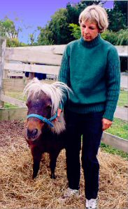 Owner Sue Meager with Miniature Horse   (Trotter/McCulloch photo)